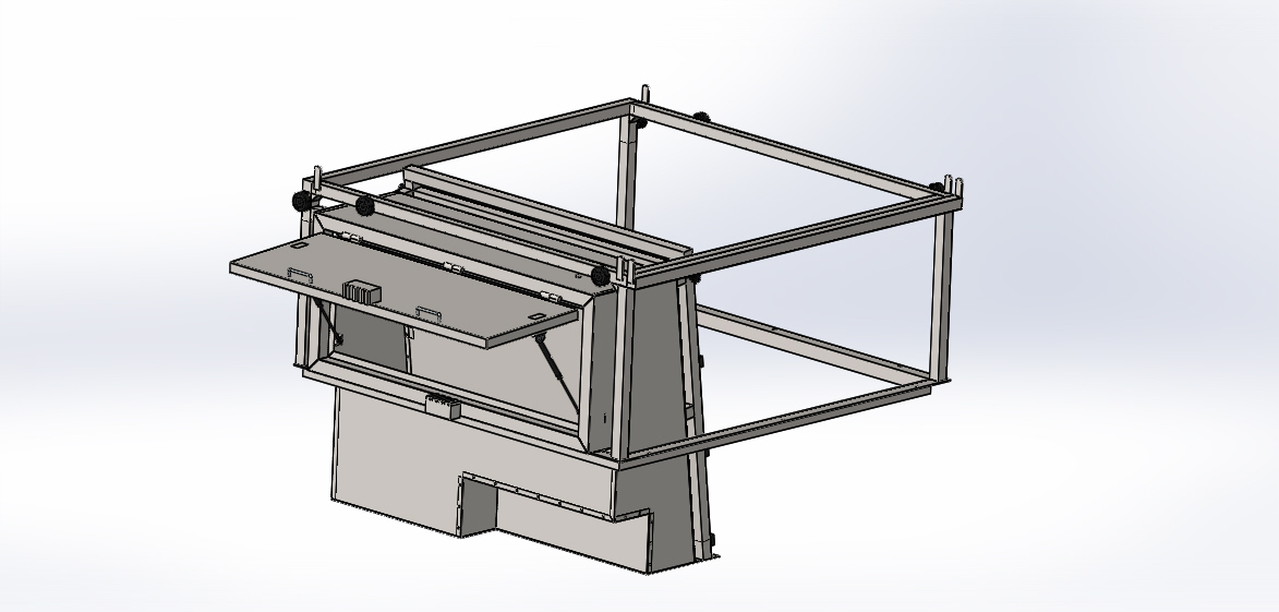 Shop Drawing 3D Model of Car Roof Construction with Structure